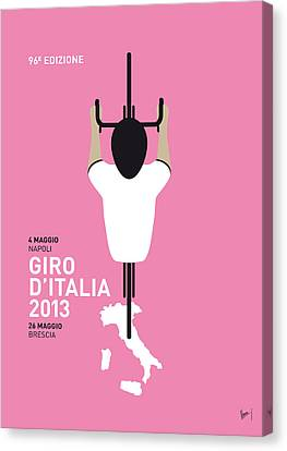 For Canvas Print - My Giro D'italia Minimal Poster by Chungkong Art