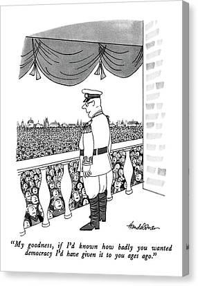 Democracy Canvas Print - My Goodness by J.B. Handelsman