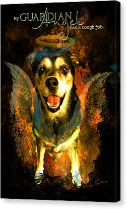 Canvas Print featuring the digital art My Guardian Angel - Hollister by Kathy Tarochione