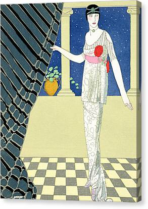 My Guests Have Not Arrived Canvas Print by Georges Barbier