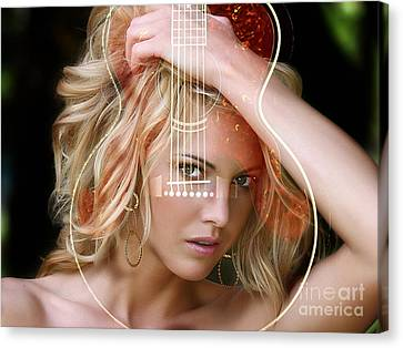 My Guitar Gently Weeps Original Canvas Print by Marvin Blaine