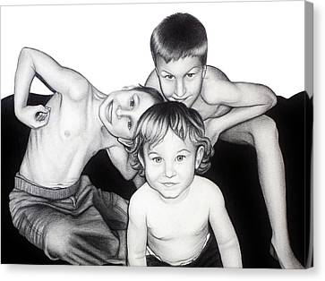 My Guys In 2010 Canvas Print by Danielle R T Haney