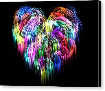 Love Making Canvas Print - My Heart Gently Weeps by Juhli Jansen