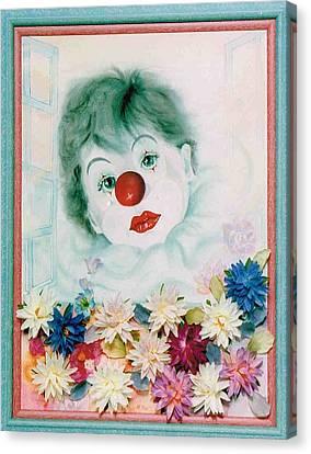 Fairy Hearts Pink Flower Canvas Print - My Heart My Tears by Takami