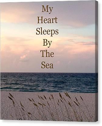 My Heart Sleeps By The Sea Canvas Print by Maya Nagel
