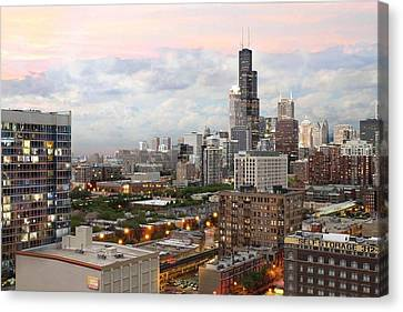 My Home Town Chicago Canvas Print