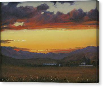 My Home's In Montana Canvas Print by Mia DeLode