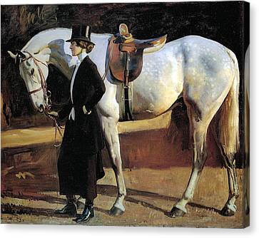 My Horse Is My Friend  Canvas Print by Alfred James Munnings