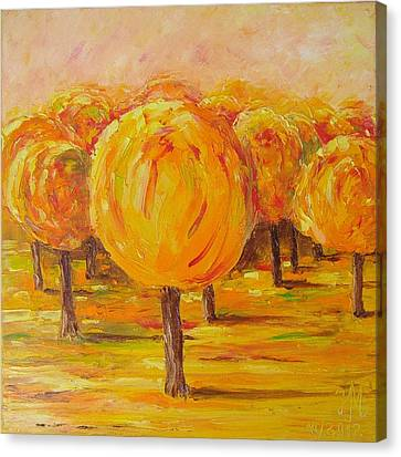 My Hot Autumn Canvas Print by Nina Mitkova