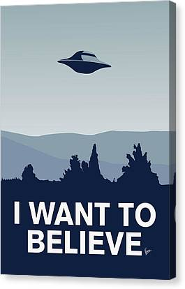 My I Want To Believe Minimal Poster-xfiles Canvas Print by Chungkong Art