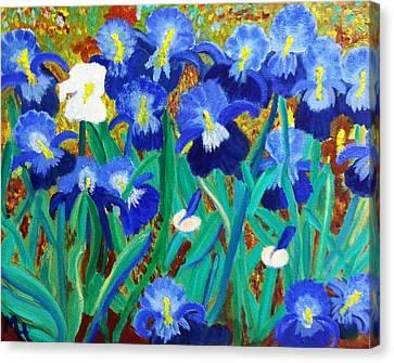 My Iris - Inspired  By Vangogh Canvas Print by Margaret Harmon