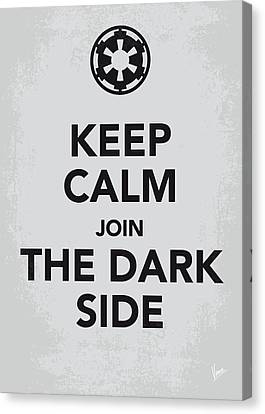 My Keep Calm Star Wars - Galactic Empire-poster Canvas Print by Chungkong Art