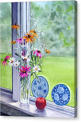 My Kitchen Window Canvas Print by Karol Wyckoff