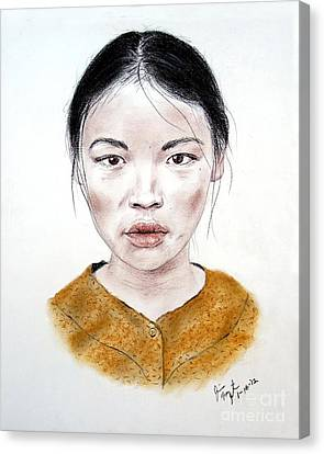 My Kuiama A Young Vietnamese Girl  Canvas Print by Jim Fitzpatrick