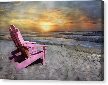 Topsail Island Canvas Print - My Life As A Beach Chair by Betsy Knapp