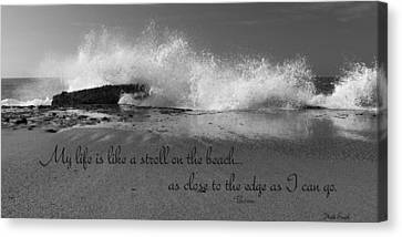 My Life In Black And White Canvas Print by Heidi Smith