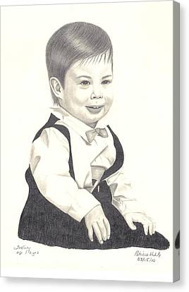 Canvas Print featuring the drawing My Little Boy by Patricia Hiltz