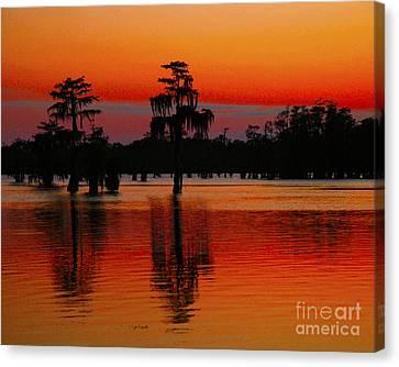 My Louisiana Heart Canvas Print by Luana K Perez