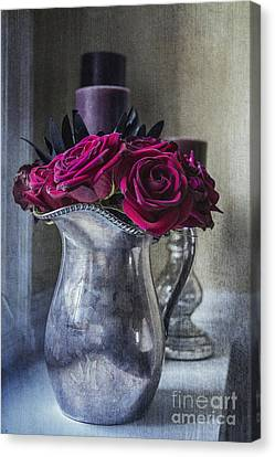 My Love Is Like A Red Red Rose Canvas Print by Terry Rowe