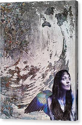Watercolor With Pen Canvas Print - My Manic And I by Megan Henrich
