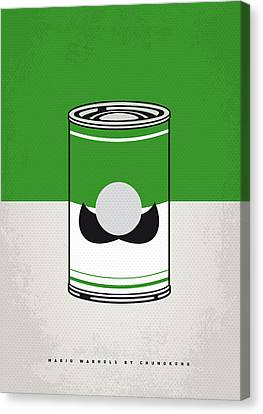 Mini Canvas Print - My Mario Warhols Minimal Can Poster-luigi by Chungkong Art