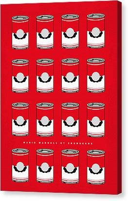 Super Mario Bros Canvas Print - My Mario Warhols Minimal Can Poster-mario-2 by Chungkong Art