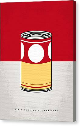 Mini Canvas Print - My Mario Warhols Minimal Can Poster-mushroom by Chungkong Art