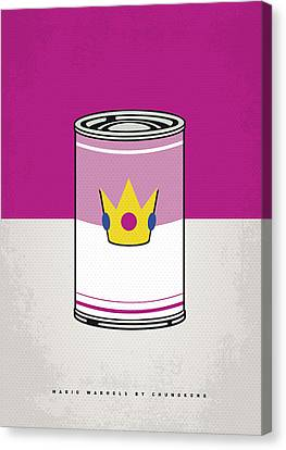My Mario Warhols Minimal Can Poster-peach Canvas Print