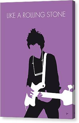 No001 My Bob Dylan Minimal Music Poster Canvas Print by Chungkong Art