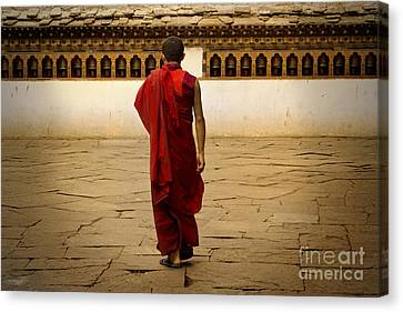 Canvas Print featuring the digital art My Monastery  by Angelika Drake