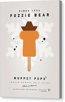 My Muppet Ice Pop - Fozzie Bear Canvas Print by Chungkong Art