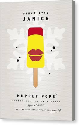 My Muppet Ice Pop - Janice Canvas Print by Chungkong Art
