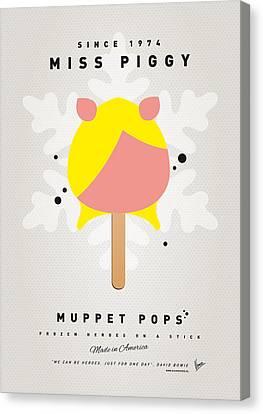 My Muppet Ice Pop - Miss Piggy Canvas Print by Chungkong Art