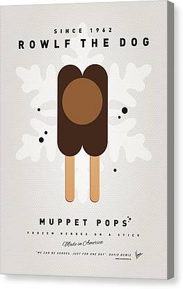 My Muppet Ice Pop - Rowlf Canvas Print by Chungkong Art