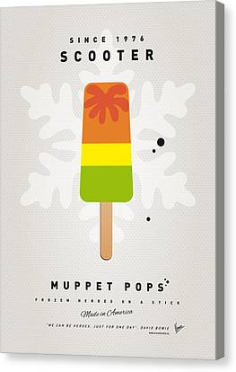 My Muppet Ice Pop - Scooter Canvas Print by Chungkong Art