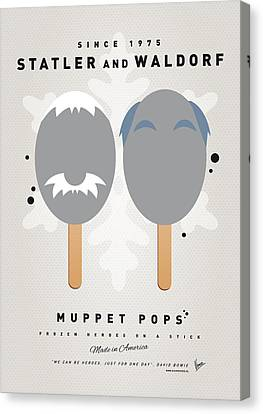 My Muppet Ice Pop - Statler And Waldorf Canvas Print by Chungkong Art