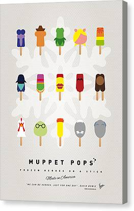 Comic Book Canvas Print - My Muppet Ice Pop - Univers by Chungkong Art