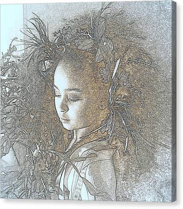 Canvas Print featuring the photograph My Muse by Jodie Marie Anne Richardson Traugott          aka jm-ART
