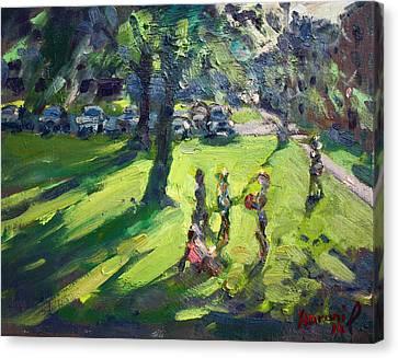 My Neighborhood Front Yard Canvas Print by Ylli Haruni