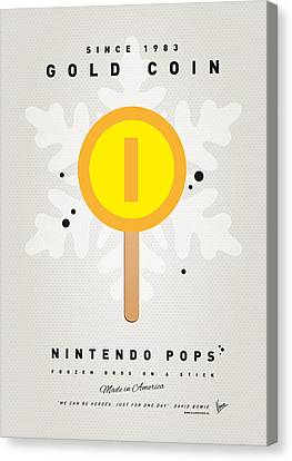 My Nintendo Ice Pop - Gold Coin Canvas Print by Chungkong Art