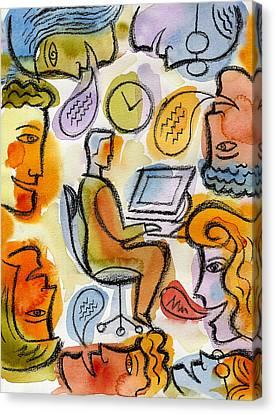 My Office Canvas Print by Leon Zernitsky