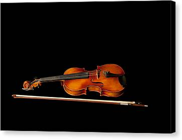My Old Fiddle And Bow Canvas Print