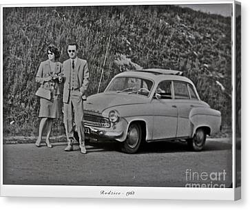 My Parents Were Awesome .  Days Gone By Good Goin.1963. Photographer Andrzej Goszcz. Canvas Print by  Andrzej Goszcz