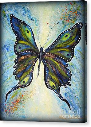 My Peacock Butterfly Canvas Print by Elena  Constantinescu
