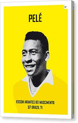 Barcelona Canvas Print - My Pele Soccer Legend Poster by Chungkong Art
