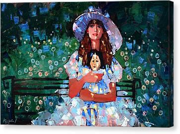 My Pierrot Canvas Print by Anastasija Kraineva
