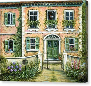 My Pink Italian Villa Canvas Print by Marilyn Dunlap