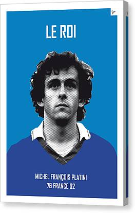 My Platini Soccer Legend Poster Canvas Print by Chungkong Art