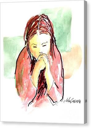 My Prayer Canvas Print by John  Svenson