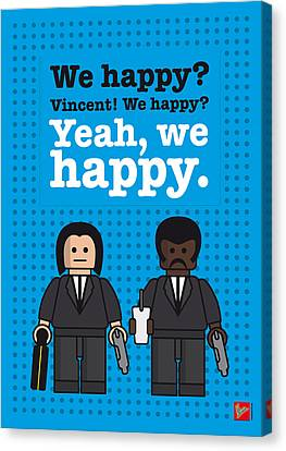 My Pulp Fiction Lego Dialogue Poster Canvas Print